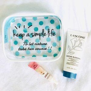 ✨5 for 30✨ Cosmetic Bag✨ Polka Dot ✨